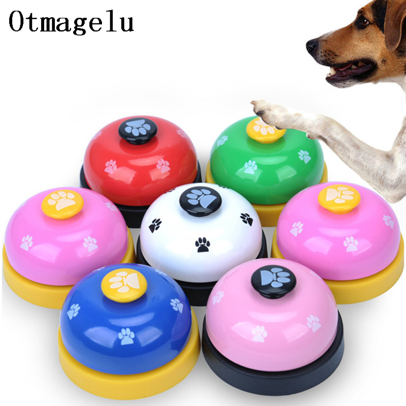 Funny Pet Dog Training Bell Behavior Training Feeding Reminder Bell For Dog Kitty Food Feeder Call Bell Pet Educational Supplies