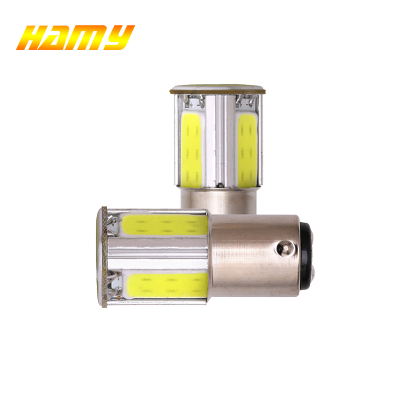 2x Car P21W 1156 BA15S 1157 Bay15D LED Bulb COB Signal Light Tail Turn Reverse Parking Brake Lamp Super White Red White 12V