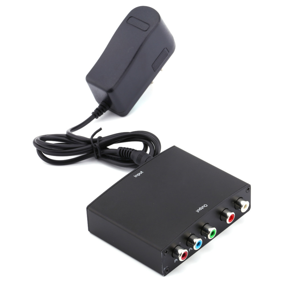 1080 P HDMI a YPbPr cavo Component RGB Video conversor + R/L Audio Amplificatore Adattatore Converter per HD TV S3 PC