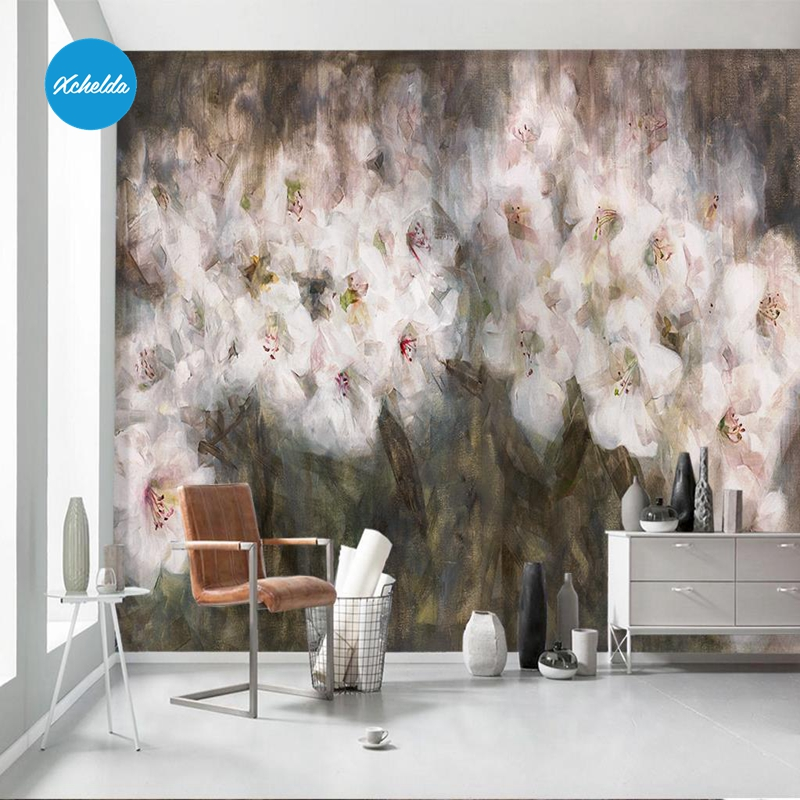 XCHELDA Custom 3D Wallpaper Design White Rose F Photo Kitchen Bedroom Living Room Wall Murals Papel De Parede Para Quarto kalameng custom 3d wallpaper design street flower photo kitchen bedroom living room wall murals papel de parede para quarto