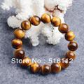 Оптовая продажа браслеты для мужчин бесплатная доставка 12 мм природный камень браслет, Природный тигровый глаз круглые бусины браслеты для мужчин