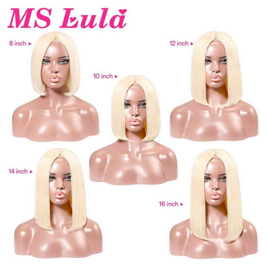 Ms Lula 613 блонд 1b Ombre короткий боб парик с кружевом спереди предварительно сорвал с волосами младенца прямые человеческие волосы Remy фронтальные Парики Природа Цвет