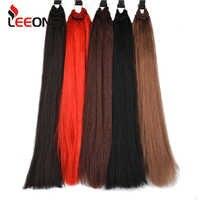 Leeons 10 Colori Jumbo Braidst Extensions Per Trecce Intrecciare I Capelli Sintetici Per Le Donne Dei Capelli Del Crochet 1-10 Pcs