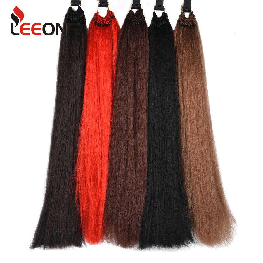 Leeons 10 цветов Джамбо Braidst наращивание волос для косичек синтетические плетеные волосы для женщин вязанные волосы 1-10 шт