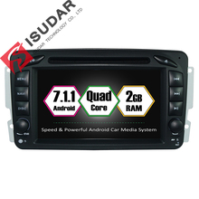Android 7.1 2 Din 7 Cal Car DVD Player Dla Mercedes/Benz/CLK/W209/W203/W168/W208/W463/Vaneo/Viano/Vito RAM 2G WIFI GPS Radio