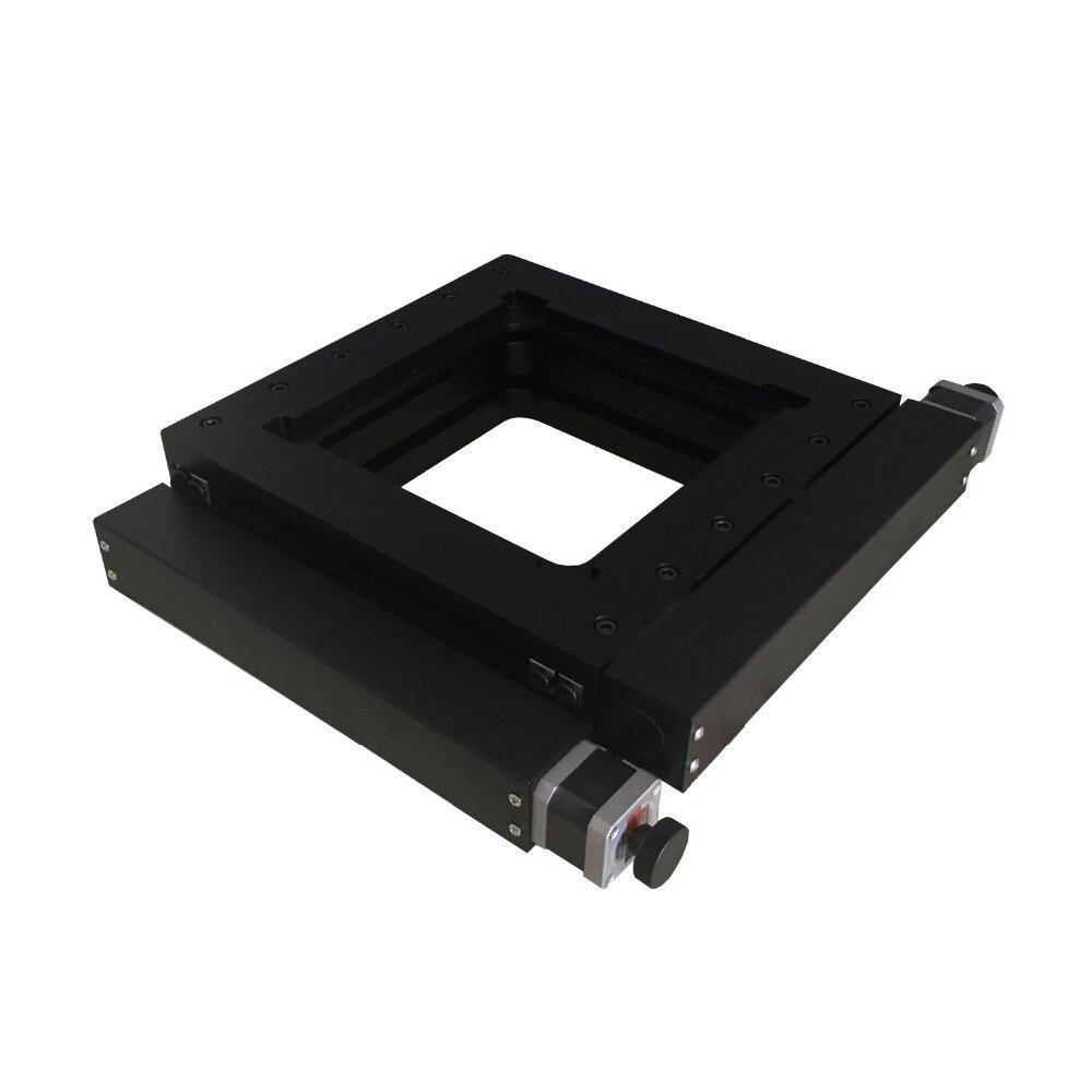 PT-XY100 XY Motorizada Estágio Do Microscópio XY Plataforma Combinating Integrante 100mm Viagem Fase Linear Elétrico
