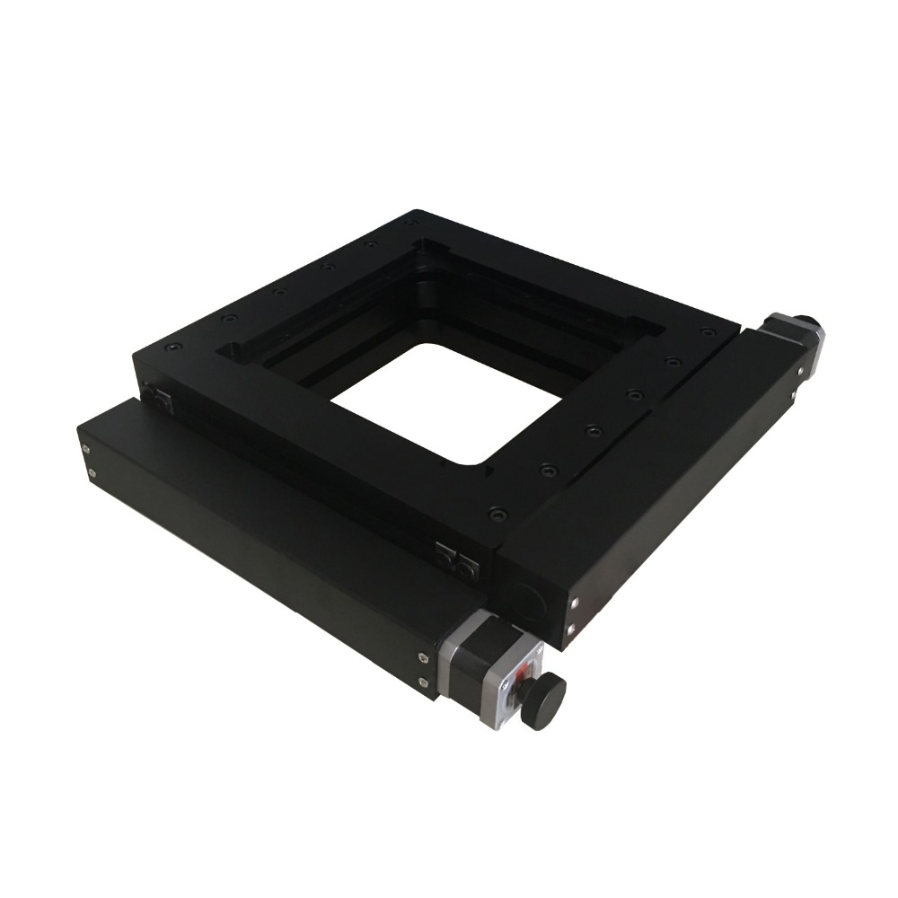 PT-XY100 XY Motorized Microscope Stage, Electric XY Integral Combinating Platform, 100mm Travel jing de microscope platform two way mobile platform xy travel 40mm 100 100 micro focus mobile phase