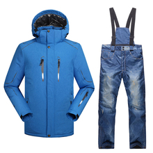d677d6339ea Professional skiing suits winter thicken thermal ski jacket+ski pants -30  degrees season breathable