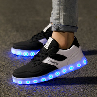 Luminous Sneakers Kids Light Up Shoes Children Led Shoes Boys Girls Glowing Sneakers USB Charging Boy Fashion Led Shoes
