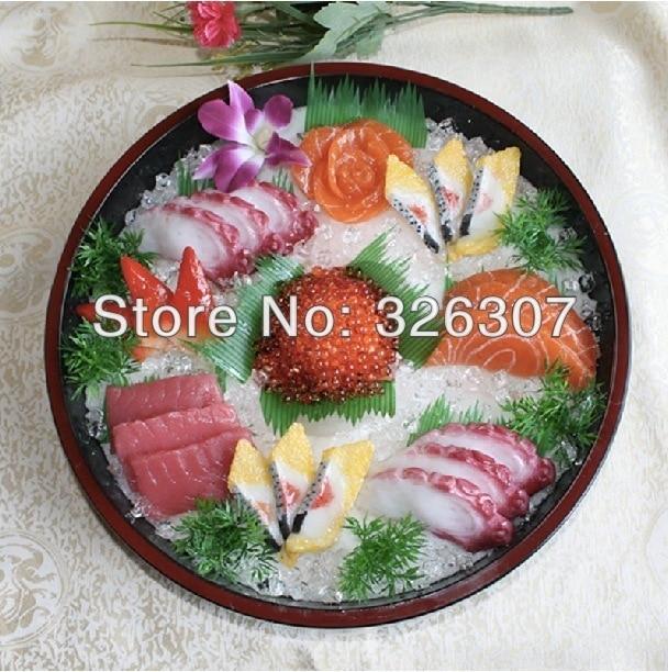 Муляж пищевых продуктов большой японский муляжи пищевых продуктов Модель глубокое блюдо sashimi ложный образец кухни посуда как в ресторане м... - 2