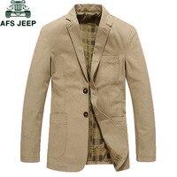 AFS JEEP Fashion Blazers Suit Jacket Male Casual blazer masculino Plus Size M 4XL Brand Mens Suit Jacket Masculin Blazers homme
