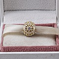 Fit Pandora Encantos De Prata Originais 925 Grânulos De Cristal de Ouro para Encantos Pulseira Pingente Jóias