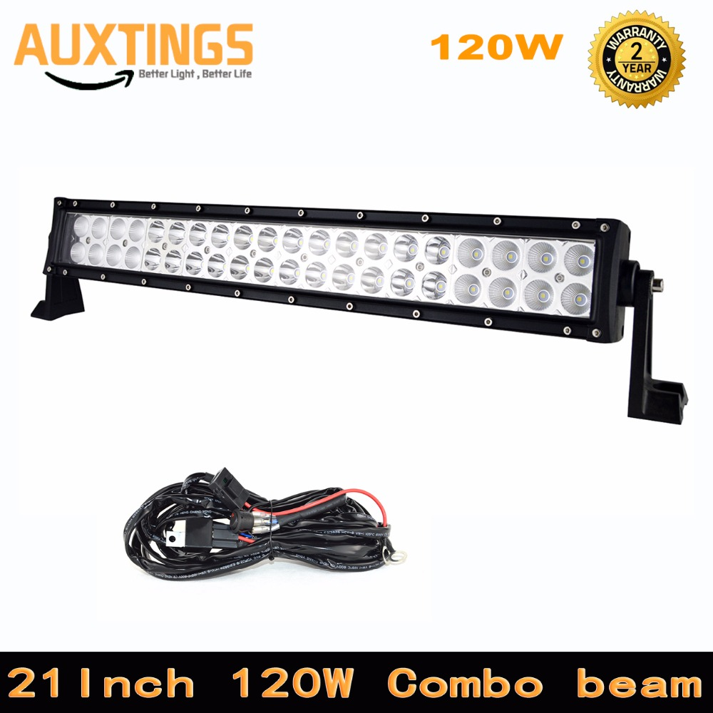 discount ip67 12 24 volt led light bar 21 inch 120w combo light bar within wiring led offroad light bar 8000lm auto light [ 1000 x 1000 Pixel ]