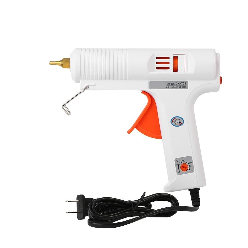 110 W pistola de pegamento profesional ajustable calentador de temperatura constante fusión en caliente pistolas de pegamento DIY Craft Repair Tool 110-240 V mejor oferta