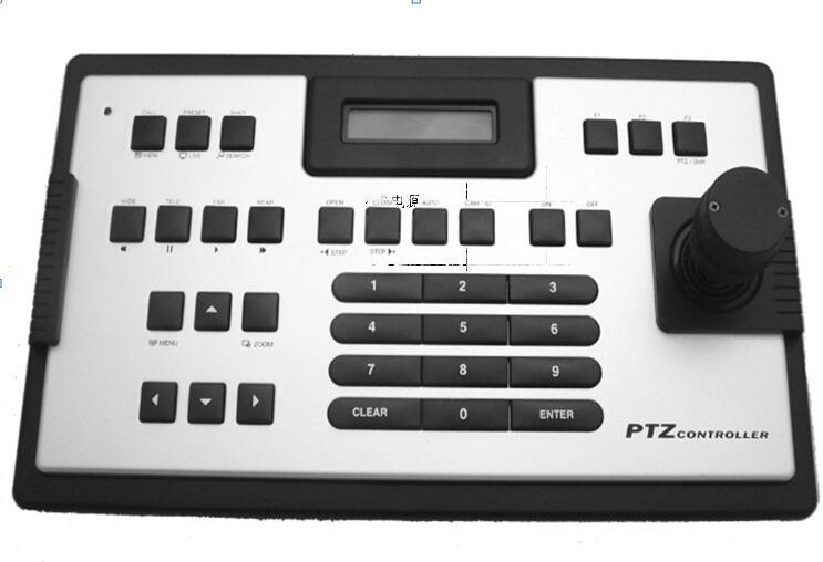 Contrôleurs de clavier de vidéosurveillance 3D joystick pour prise en charge de caméra dôme de vitesse PTZ AHD \ CVI \ TVI/CVBS