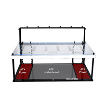 NEW 6 GPU Acrylic Open Air Crypto Coin Mining Frame Rig Case Graphics Card ETH LTC BTC Ethereum Computer Case Towers