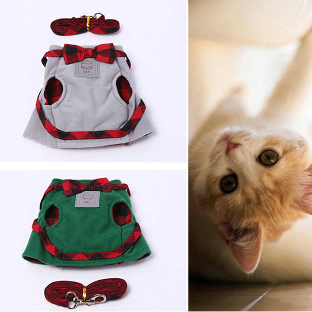 ペットの猫ハーネスジャケットウォーキングトレーニングハンドグリップストラップリーシュ牽引ベルト小動物用品