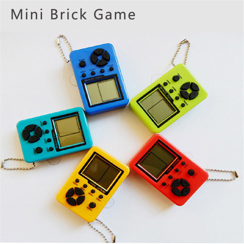 Video Games Friendly Mini Game Player Classical Game Tetris Electronic Mini Cyber Machine Education Toys For Kids Game Keychain Gifts Toys Consumer Electronics