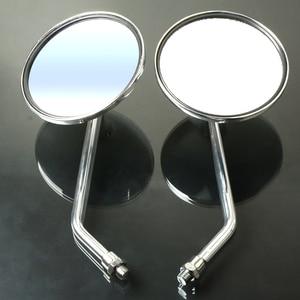 Image 4 - Um Par de Motocicleta Revisão Espelho Rear Side Espelhos Universal Para Yamaha AT1M Motorcross 1970 AT2 AT1 125 1969 1971 125 1972