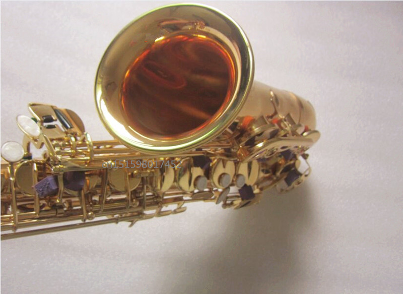 custom Brand Alto saxophone Wholesale prices Electrophoresis Gold R54 Model Instrument E Flat music professional Alto