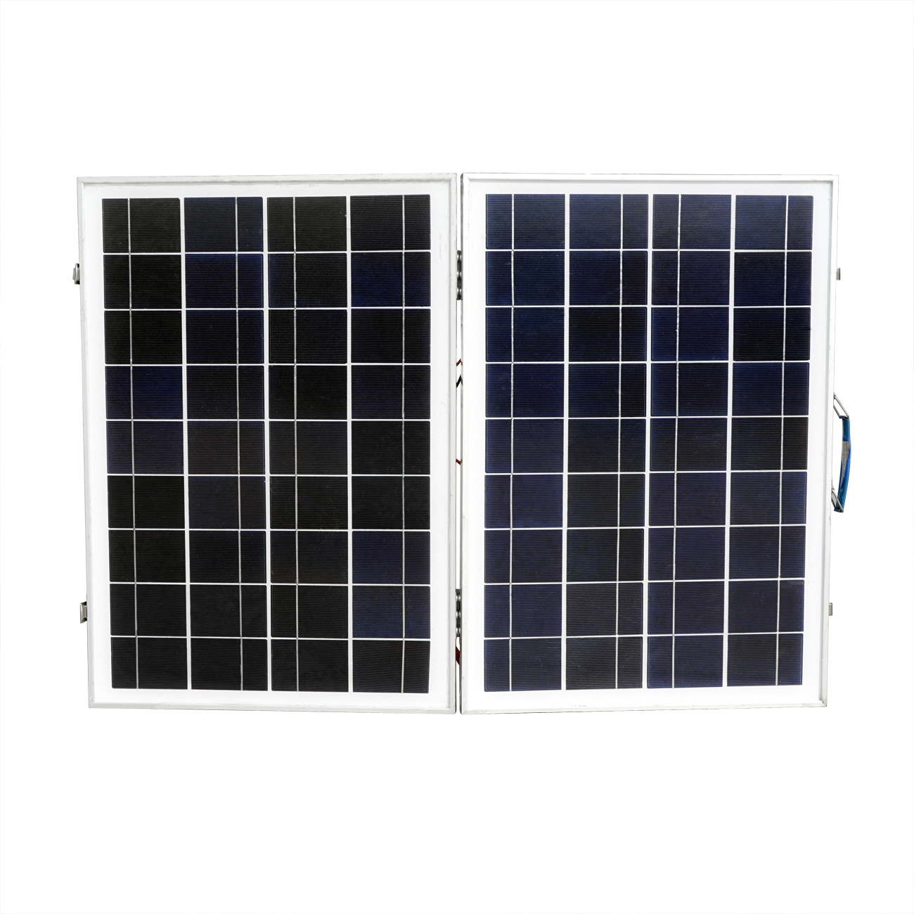 50W 18V Poly Folding Foldable Solar Panel for 12v Battery Car RV Camping Boat Solar Generators 50w 12v semi flexible monocrystalline silicon solar panel solar battery power generater for battery rv car boat aircraft tourism