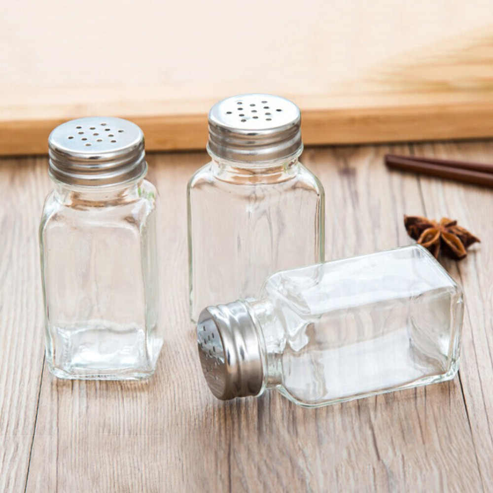 1 PC Barbecue Kitchen Glass Cruet Condiment Bottles Seasoning Cans Pepper Shakers Salt Shaker Spice Container Spice Jar