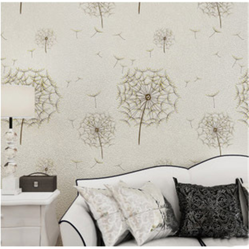 beibehang mural Pastoral Romantic Dandelion 3D Wallpaper roll Wedding House Decorative Mural Wall paper Roll papel pintado beibehang papel parede 3d romantic dandelion wedding decorative wallpaper non woven floral 3d wallpapers mural wall paper roll