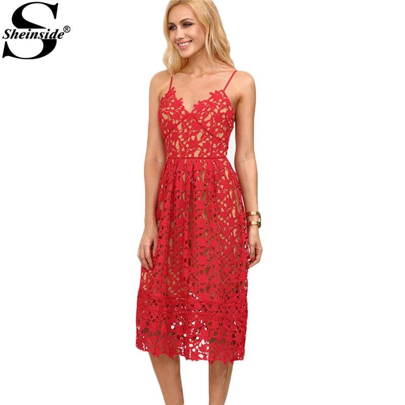 Spaghetti Strap Lace Dress