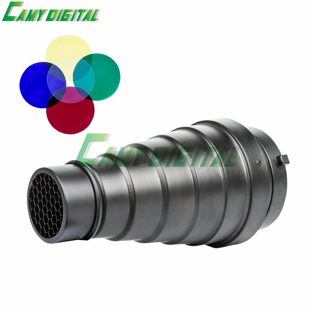 Godox sn-01 con filtro de color cónico Studio Accesorios de flash Honeycomb Grid Light para bowens Mount Studio flash estroboscópico