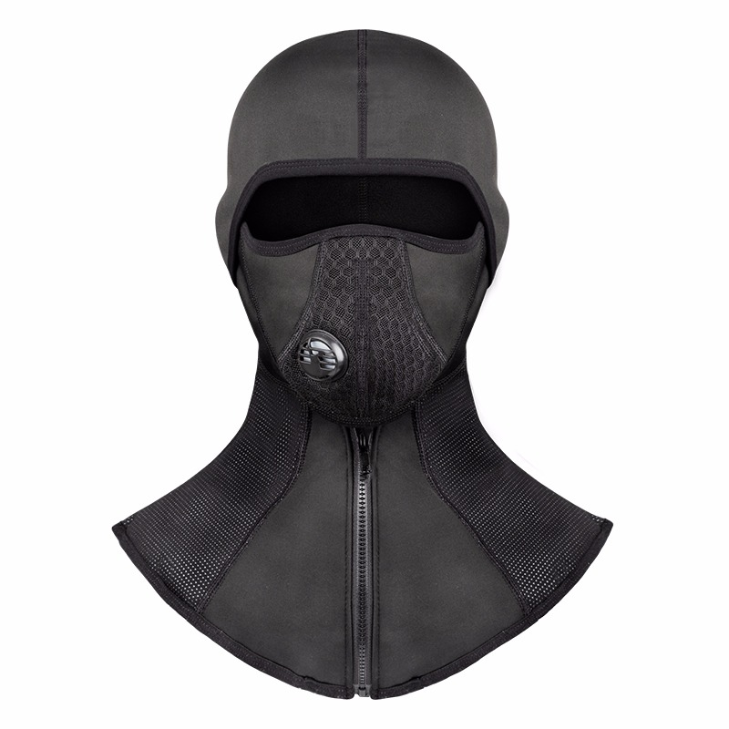 Brave 2019 New Black Windproof Motorcycle Face Mask Hat Neck Helmet Cap Thermal Fleece Balaclava Hat Protector Mask Professional Design Apparel Accessories Men's Accessories