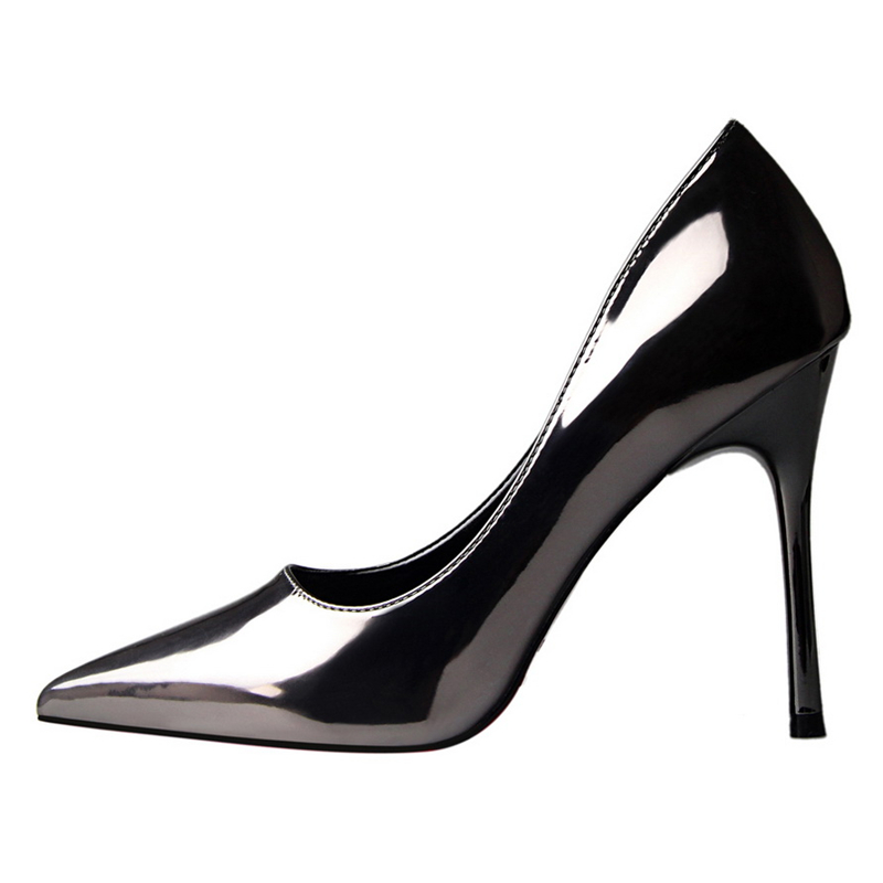 10 cm high heels shoes woman bigtree wedding shoes tacones stiletto OL  fetish high heels patent leather pumps escarpins femme-in Women s Pumps  from Shoes on ... 856ed38d4264