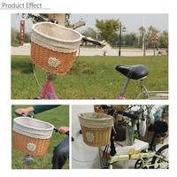 32cm X 26cm X23cm Cycling Front Basket Wicker Bicycle Bike Basket Light Brown Shopping Bag Bicycle