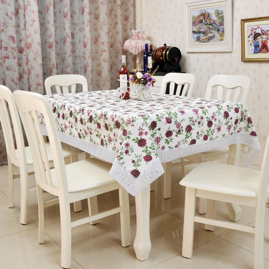 Home textile pvc protection water table tea table cloth oil color pastoral heat resistant table - Heat resistant table cloth ...