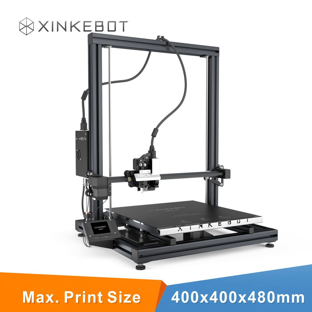 Xinkebot 3D Printers Orca2 Cygnus Metal Frame Structure Dual Extruder Works with ABS and PLA Free