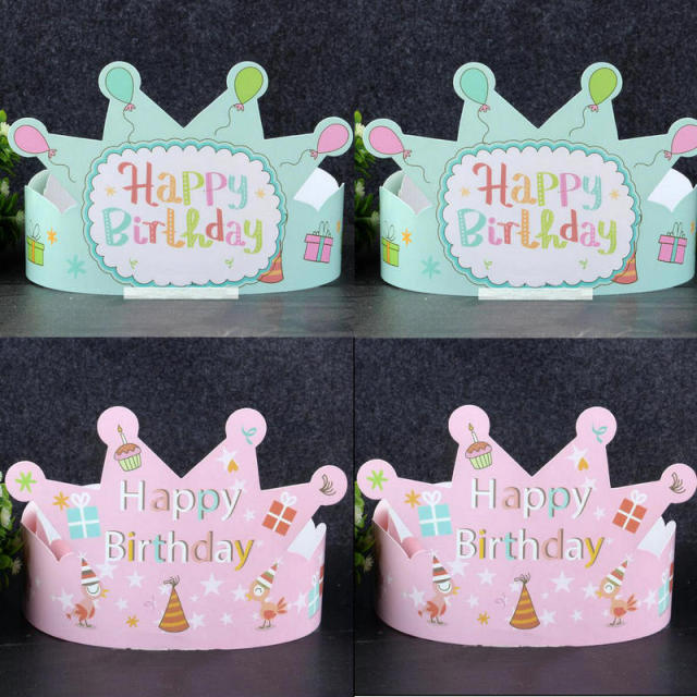 Perfect 5pcs Birthday Hats Party Celebration Paper Caps Festive Photograph Decorations Kids Adults Birthday Party Supplies