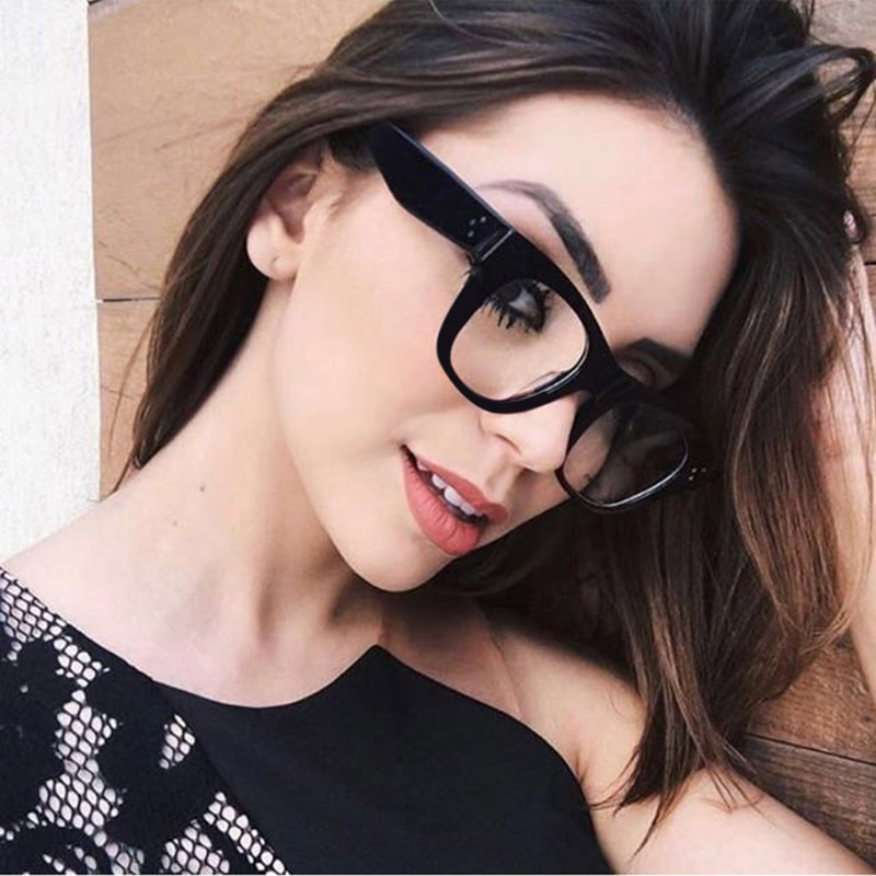 Thick Rim Frame Optical Eyeglasses Full Rim Women Prescription Glasses Frame Female Colorful Spectacles Brand Designer