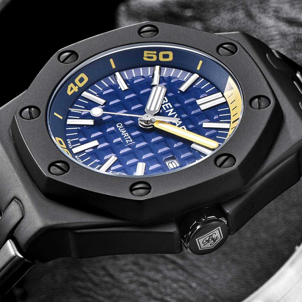Men Watches Luxury Brand BENYAR Quartz Military Watches Dive Waterproof Casual Watch Relogio Masculino Heren Duikhorloge+box