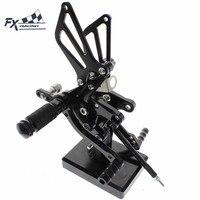 CNC Aluminum Motorcycle Rearset Rear Set Foot Pegs Pedal Footrest For Suzuki SV650 SV650S SV1000 SV1000S SV 650 1000 1998 2014
