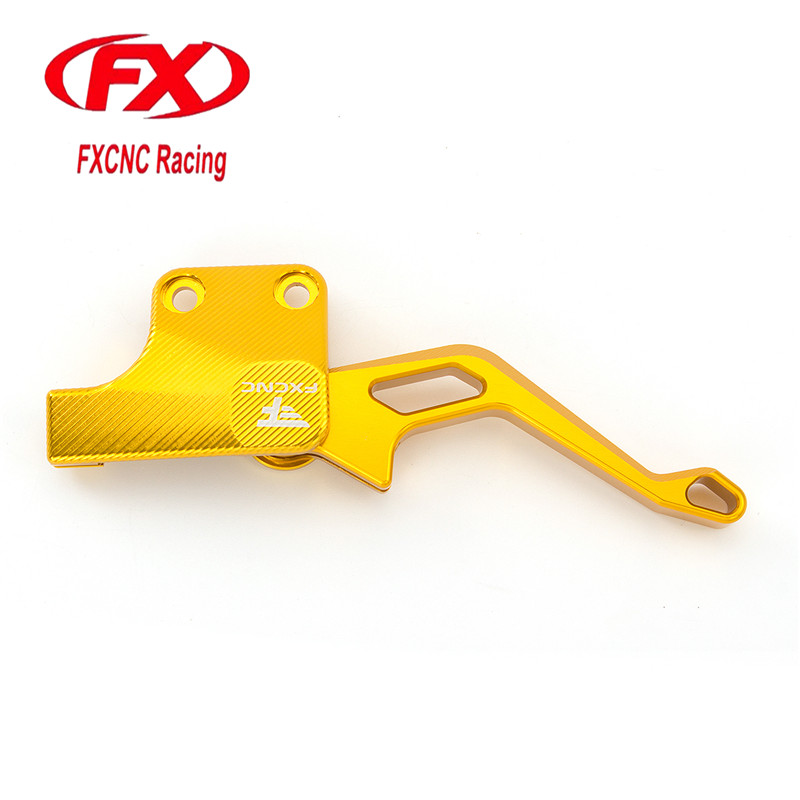 FX CNC Motorcycle Aluminum Parking Brake Lever Fit For Yamaha YFM700R 2008 - 2018 2017 2016 2015 2014 2013 2012 2011 2010 2009 for yamaha xt660x 2004 2014 xt660r 2004 2014 xt660z 2008 2014 motorcycle cnc aluminum easy pull clutch cable system