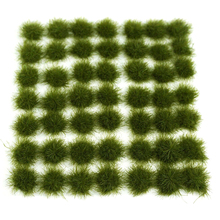 147Pcs Grass Cluster Static Grass Tufts for 1:35 1:48 1:72 1:87 Sand Table Architecture Model- Medium Green