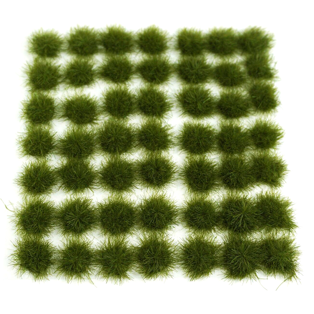 147Pcs Grass Cluster Static Grass Tufts for 1:35 1:48 1:72 1:87 Sand Table Architecture Model - Medium Green image