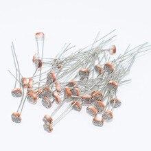 Резисторы 10 шт./лот 5528 светочувствительное сопротивление/фотоэлектрический элемент переключателя/фотоэлектрический элемент обнаружения/5 мм