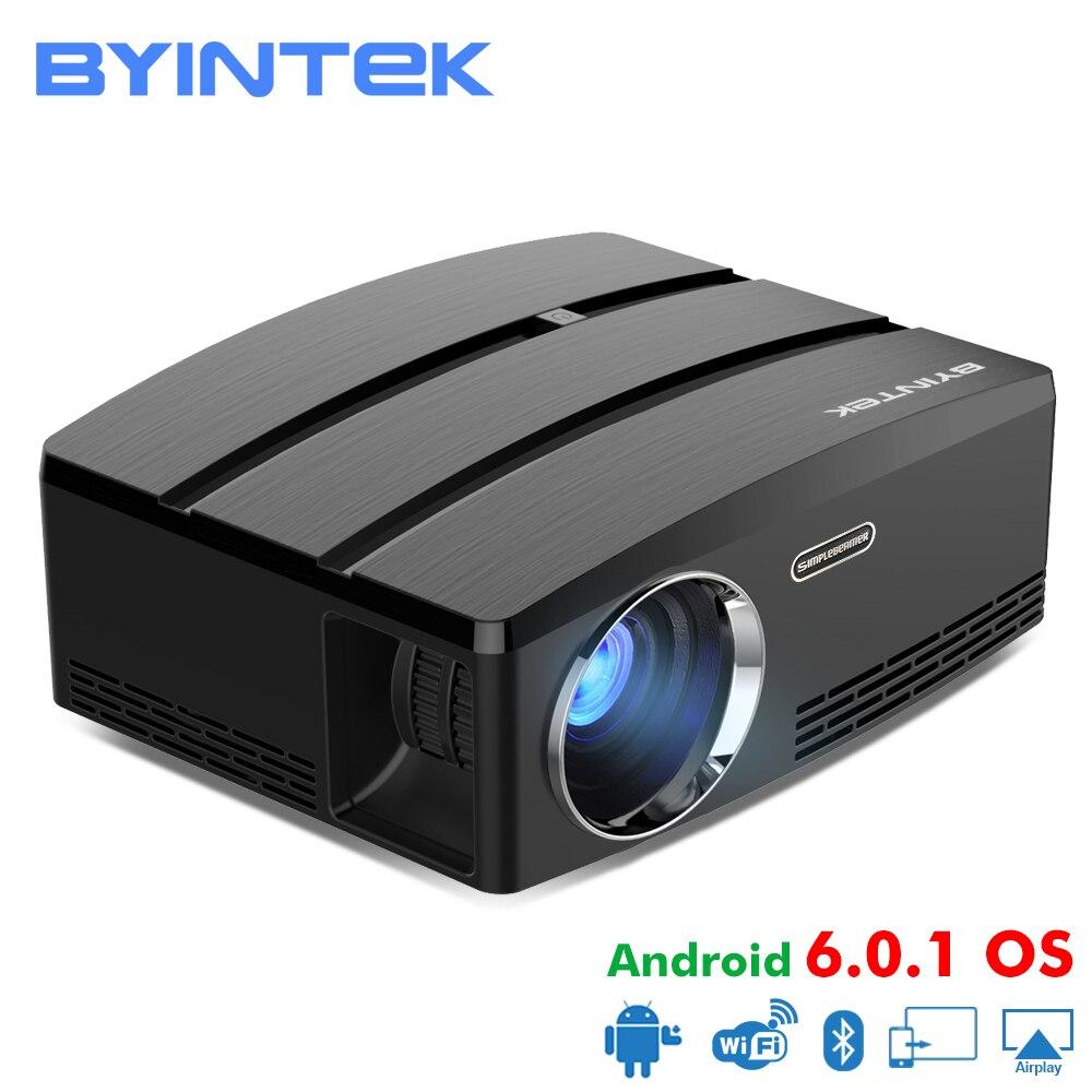 BYINTEK CIEL GP80/GP80UP HD LED Mini USB HDMI Portable Projecteur pour Home Cinéma 1080 p Cinéma (En Option android 6.0 Version)