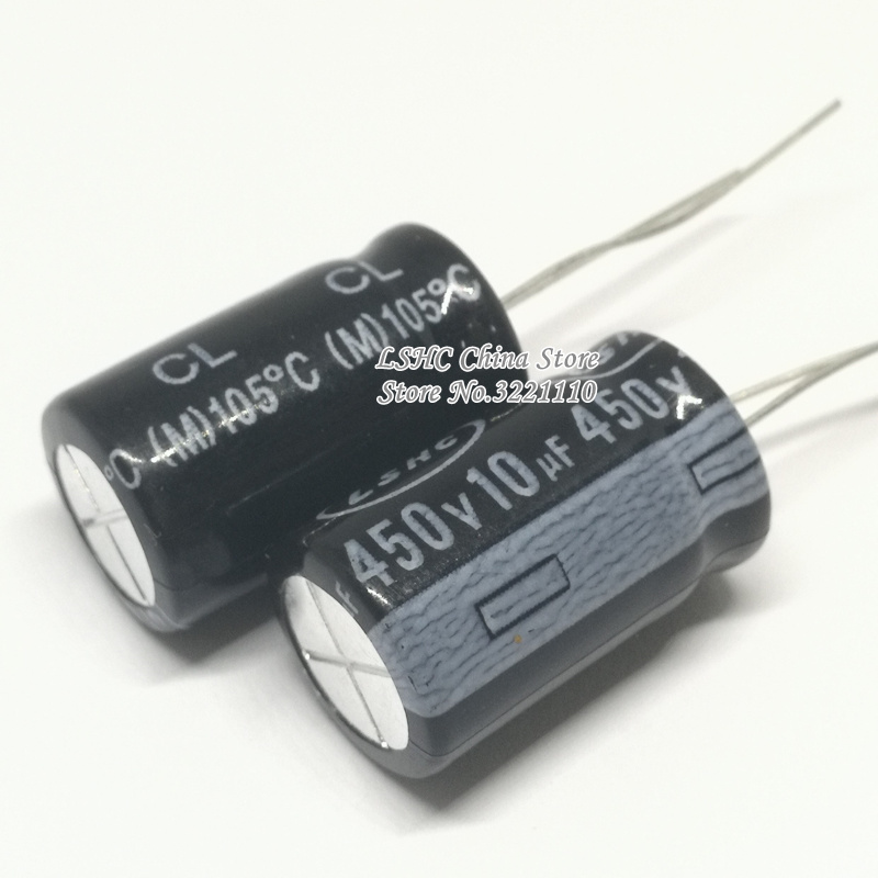 10pcs 10uf 450v 13x20mm Aluminum Electrolytic Capacitor 450v10 13 20mm Cl Series 105 Temperature