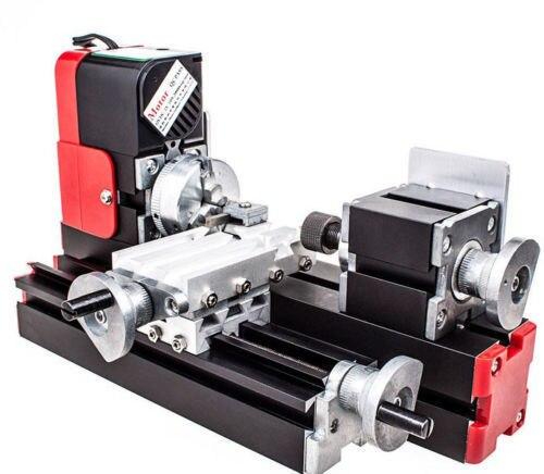 Mini tour rotatif en métal de grande puissance d'outil de bricolage, moteur de 20 W 20000rev/min, Machine multifonctionnelle en métal Miniature d'un ensemble