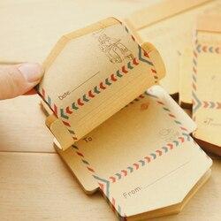 Frete grátis mini retro vintage kraft papel envelopes bonito dos desenhos animados kawaii papel coreano papelaria presente