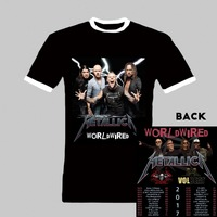 Heavy Metal Rock T Shirt Metallica WorldWired 2017 Tour With Avenged Sevenfold And Volbeat Heavy Cotton