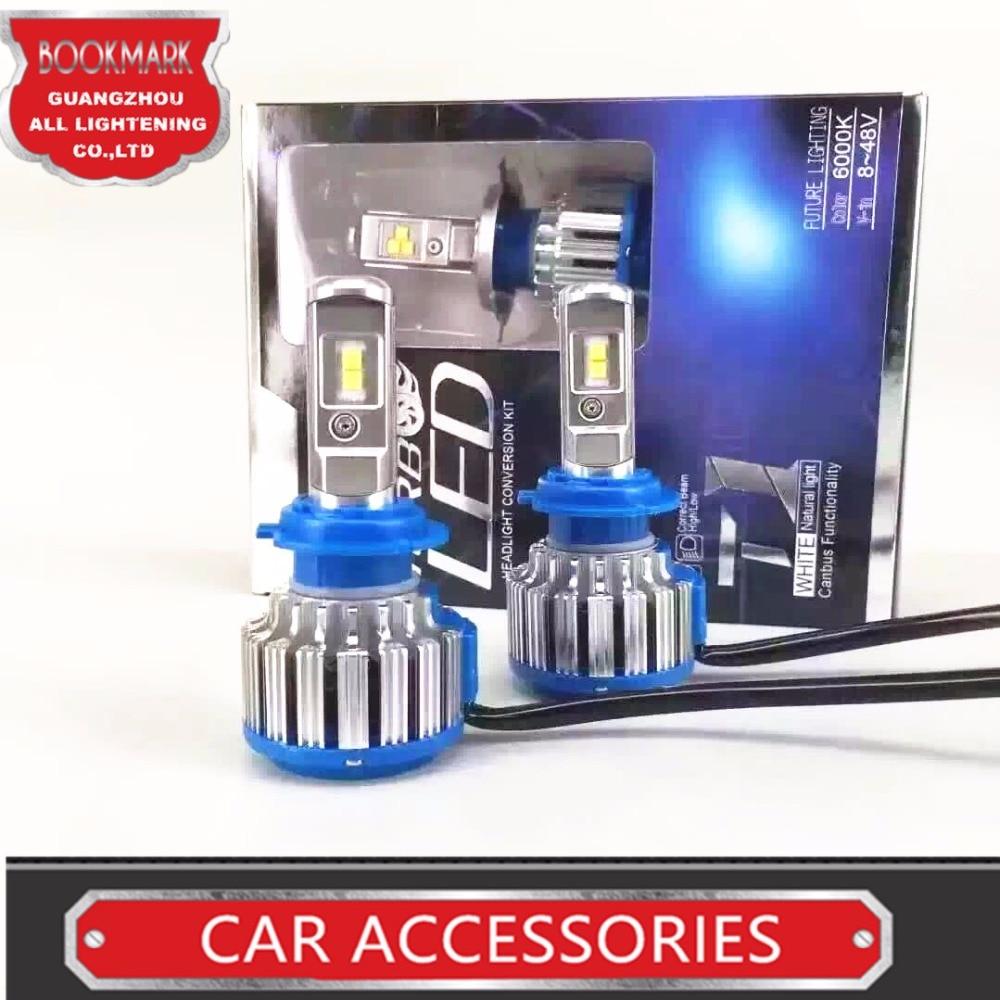Led Auto Light 9005 HB3 Car Headlight Conversion Kit 70W 7000Lm/Set Lamp Bulb  6000K Xenon White Turbo Leds  Beam led auto light 9005 car headlight conversion kit 70w 7000lm set lamp bulb 6000k white turbo leds w adob beam
