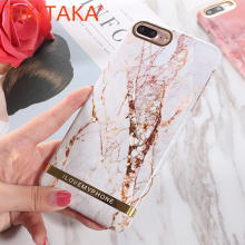 Granite Marble Texture Phone Cases For iPhone X 8 7 6 6s Plus Case Hard PC Cover Gold Stri