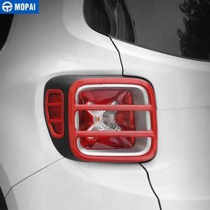 Image 2 - MOPAI cubierta protectora de Metal para faro trasero de coche, pegatina decorativa para Jeep Renegade 2015, accesorios exteriores, decoración para coche
